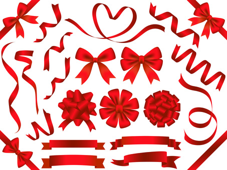 Ribbon material set 1 red
