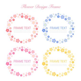 Flower frame set 01