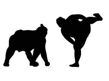 Sumo wrestler silhouette