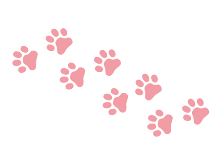 Paws footprint pink