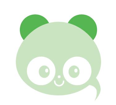 Tanuki type balloon _ green