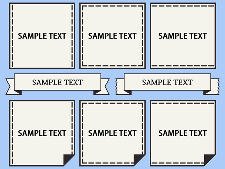 Name tag monotone fold seam
