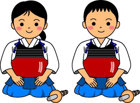 Kendo children's right seat 1