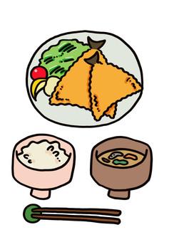 Aji fried set meal