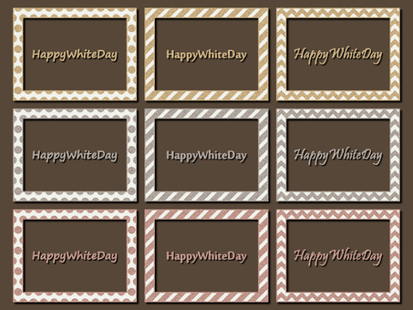 White Day Photo Frame Gold Silver Lame