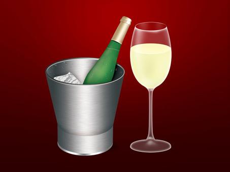 Illustration of champagne (png background transmission)