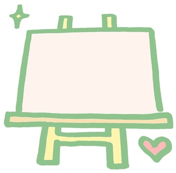 Signboard easel pink