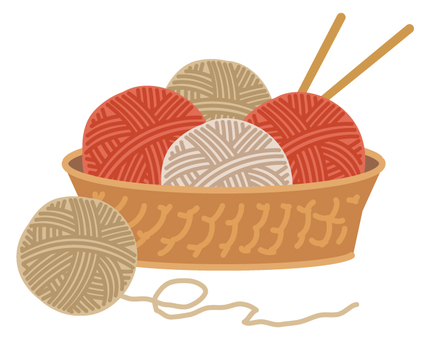 Knitting wool ball
