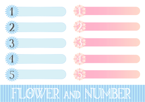 Flowers and numbers