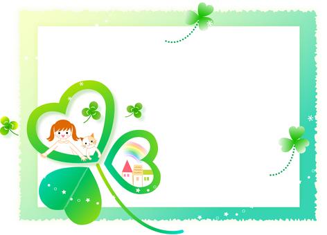 Fairy tale clover frame