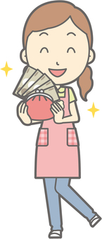 Nursery teacher woman - wealthy - whole body