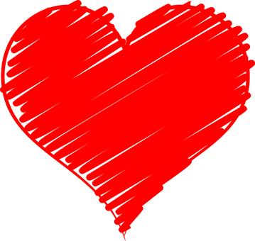 Handwritten heart (red)