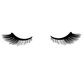 Eyelash eye outside eye volume closed eyes