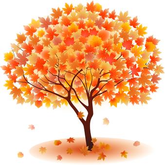 ai Autumn leaves made maple tree 3