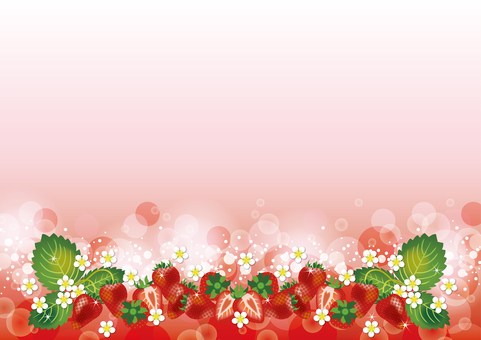 From the bottom of the strawberry background
