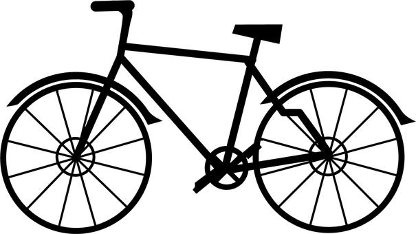 Bicycle monochrome icon