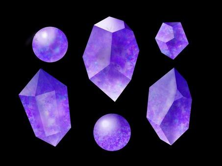 Gem mineral crystal amethyst purple