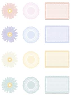 Flower frame etc
