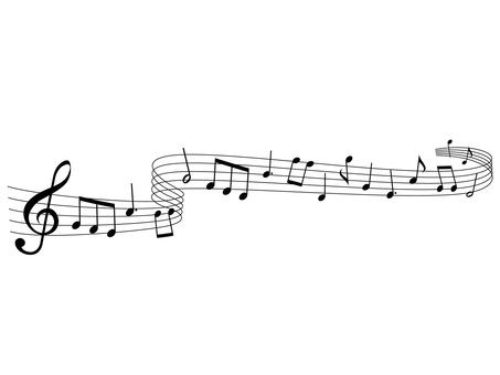 Music · Note illustration 12 · Flowing music
