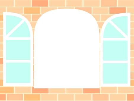 Antique window frame
