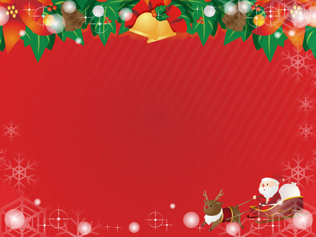 Santa Claus decorative frame on the sled
