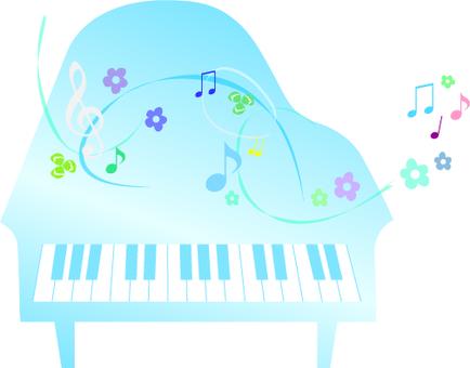 Light blue piano