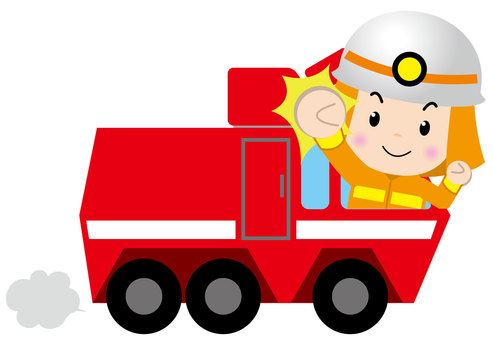 Chemical Fire Truck (with people 1)