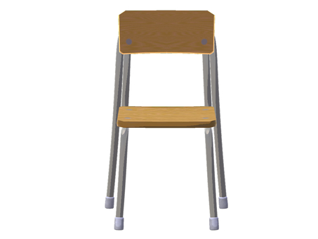 School chair (front)
