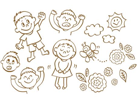 Children's hand drawing (line)