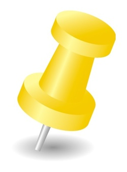 Yellow push pin