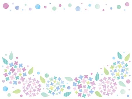 梅雨の紫陽花フレーム03