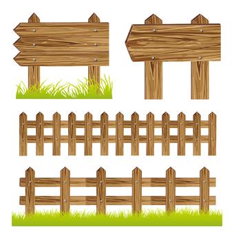 Wood board / wood fence