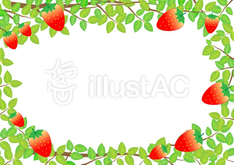 Free Cliparts : strawberry, frame, spring - 755625 | illustAC