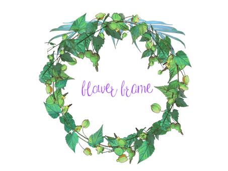 Summer color flower wreath