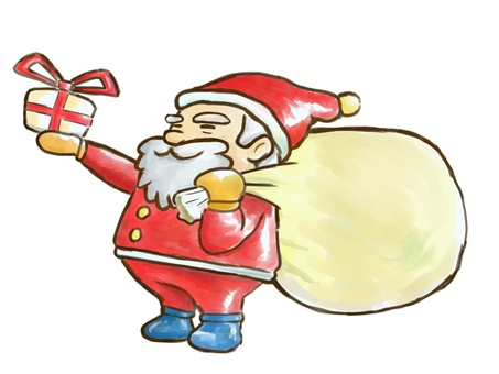 Santa Claus and present