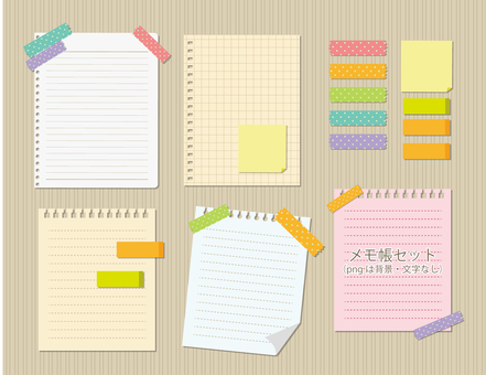 Illustration of notepad, notebook