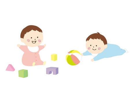 Babies and toys