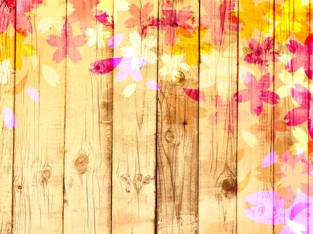 Wood grain cherry background