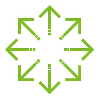 Single line arrow _ Happou_Green