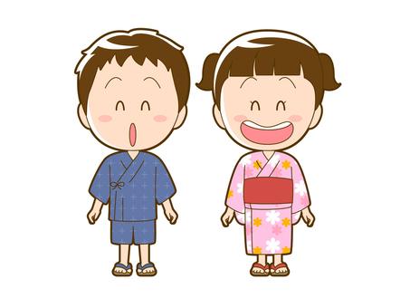 Summer _ boys and girls in yukata _ 009