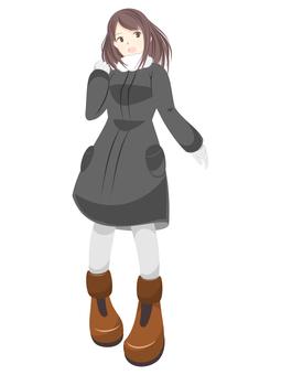Black coat girl
