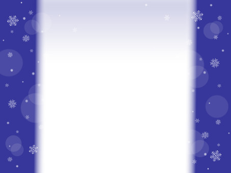 Snow crystal frame background blue series