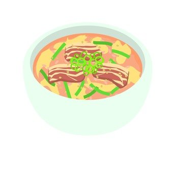 Korean meat soup
