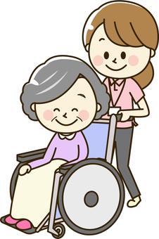 Polo shirt women 2-13 Wheelchair senior women