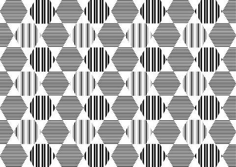 배경 _ 라인 패턴 _ 육각형 _ 블랙