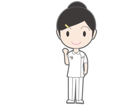 Nurse who gets posed
