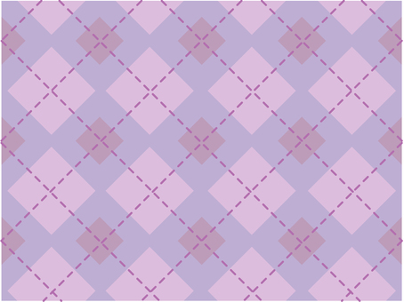 Dotted line check - purple