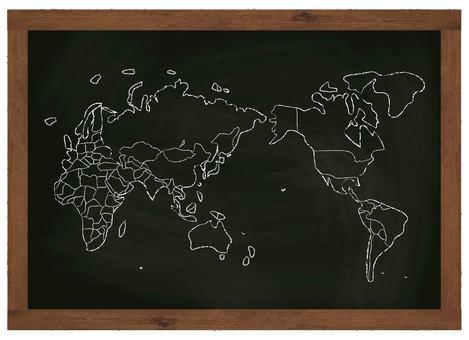 World map world map map country blackboard