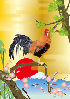 Naruko chicken_ details _ kimono pattern Shochiku Meishi _ gold
