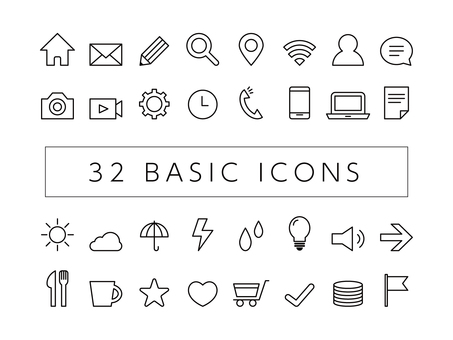 Basic icon outline